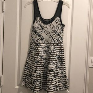 Black and White Parker Dress
